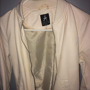 Size 2 Zip Up Light Pink Leather Jacket